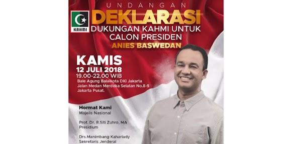 Presidium KAHMI: Deklarasi Pencapresan Anies Baswedan Hoax!