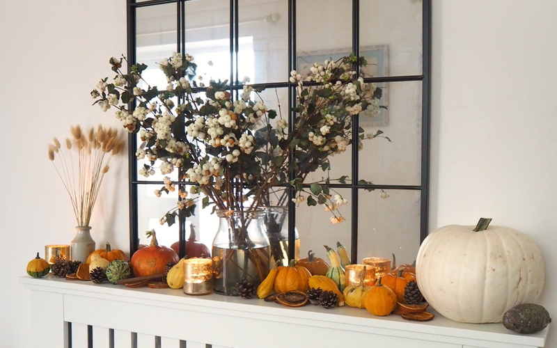 How to embrace autumn in your home including baking a new recipe, getting your home winter ready, autumn crafts you can try, and decluttering ahead of Christmas