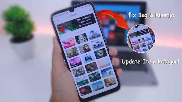 Update Aplikasi Themes Store MIUI 12.5 Versi v1.6.8.3 global,  Penambahan Item di semua kategori, Perbaiki Bug & kinerja