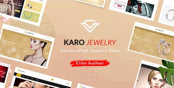 Karo Handcrafted Jewelry WooCommerce WordPress Themes