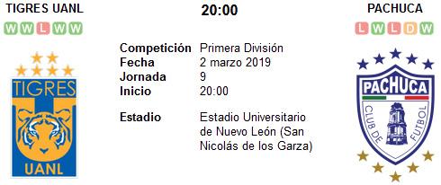 Tigres UANL vs Pachuca en VIVO