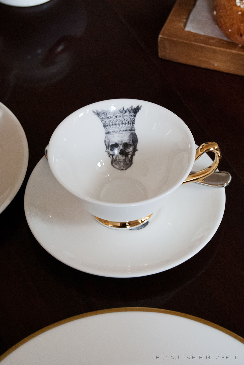 Skull In Crown Teacup and Saucer Melody Rose - French For Pineapple Blog