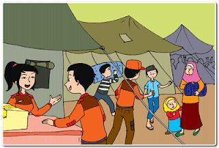 Berperan sesuai teks Bencana Tanah Longsor di Desa Melati www.jokowidodo-marufamin.com