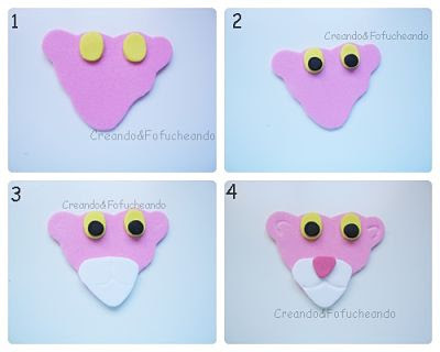 pantera-rosa-paso-a-paso-caja-porción-de-tarta-con-cartón-y-goma-eva