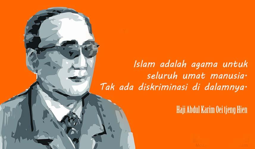 Haji Abdul Karim Oei Tjeng Hien, Muslim Tionghoa Indonesia yang Menggetarkan Dunia