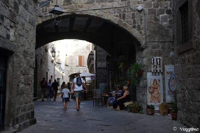 Scorcio del centro storico di Viterbo