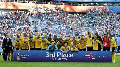 MUNDIAL 2018, TERCER PUESTO: BÉLGICA 2 INGLATERRA 0