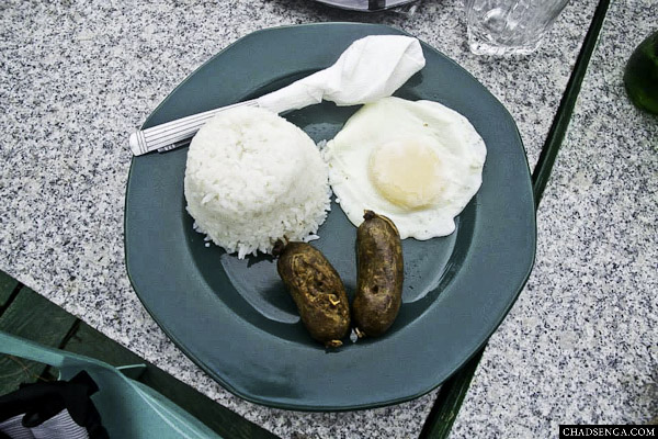 Lunch, Longganisa, Rice Meal, Bike Challenge: The Sierra Madre Experience