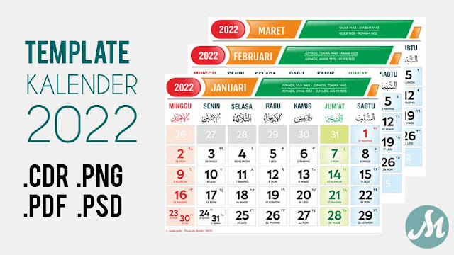 Template Kalender 2022 Format CDR