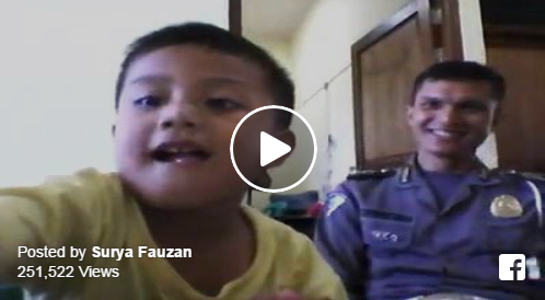 Masya Allah!! Video Polisi Dan Anaknya Yang Saling Sambung Ayat Ini Membuat Netizen Kagum