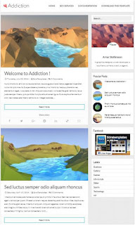 Addiction-Adsense Responsive Blogger Templates Without Footer Credit