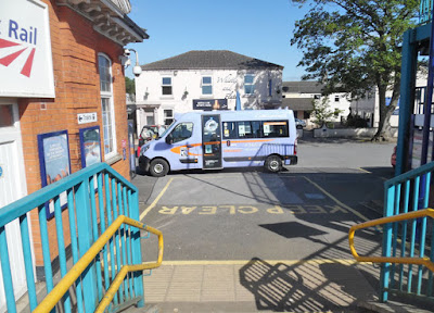 A CallConnect bus waiting to pick up passengers bound for Brigg from Barnetby railway station- see Nigel Fisher's Brigg Blog