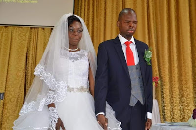 Beautiful Woman Weds Visually Impaired Man (Photos)