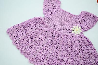 1 - Crochet Imagen Vestido con canesú morado a crochet muy fácil y sencillo por Majovel Crochet