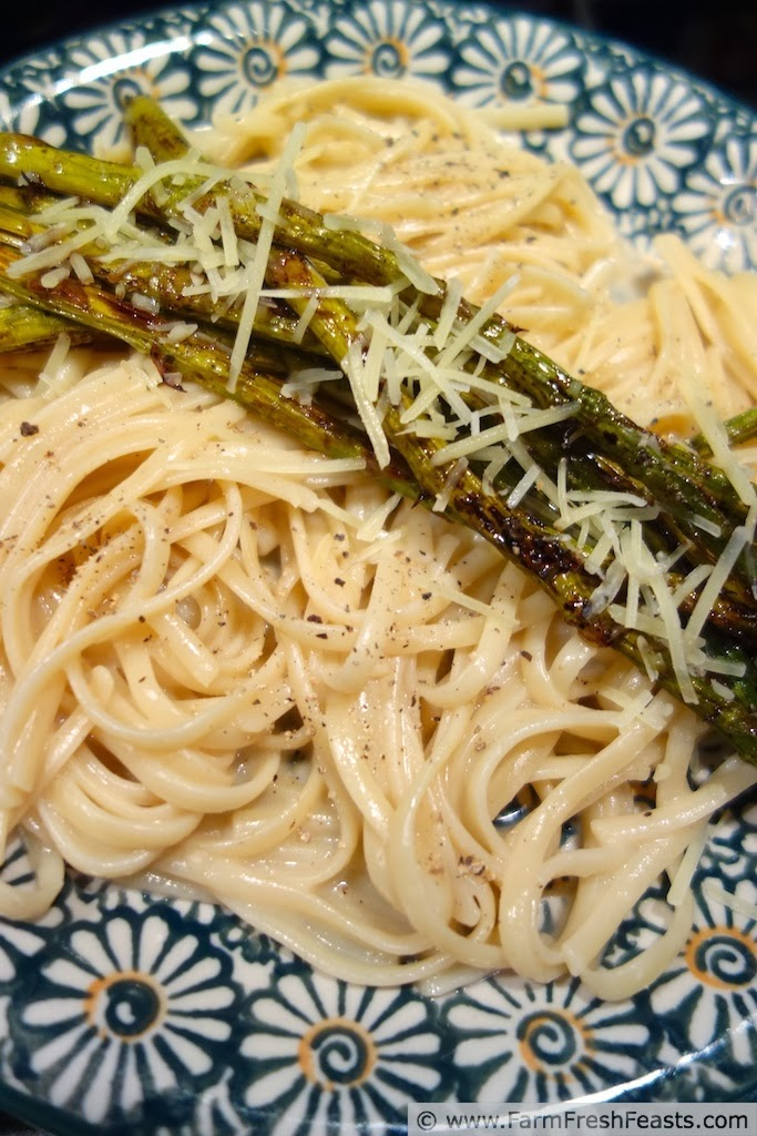 Roasted Asparagus with Chicken Jelly Noodles | Farm Fresh Feasts