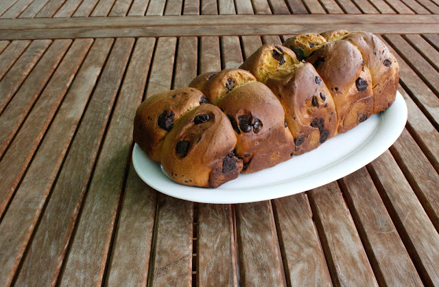 brioix de carabassa i xocolata per esmorzar