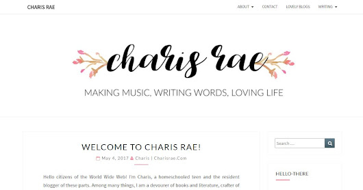 Charis Rae Blog Launch Tour