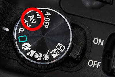 Dial de la cámara - modo AV