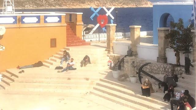 """Το Καστελλόριζο εάλω από """"πρόσφυγες"""""""