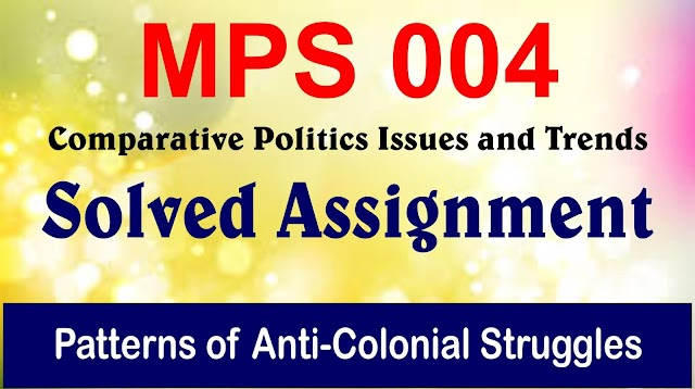 Patterns of Anti-Colonial Struggles