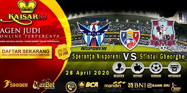 Prediksi Bola Terpercaya Liga Moldova Cup Speranţa Nisporeni vs Sfîntul Gheorghe 28 April 2020
