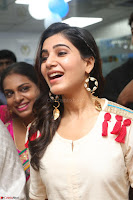 Samantha Ruth Prabhu Smiling Beauty in White Dress Launches VCare Clinic 15 June 2017 031.JPG