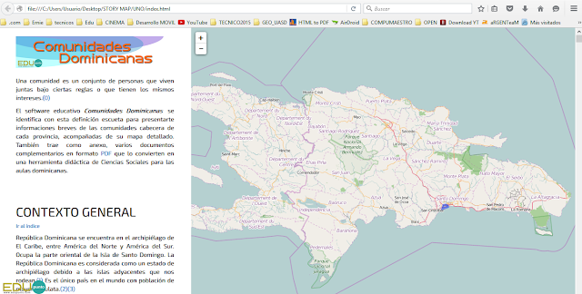 edupunto,dominicana,mapa,geografia,interactivo,descarable