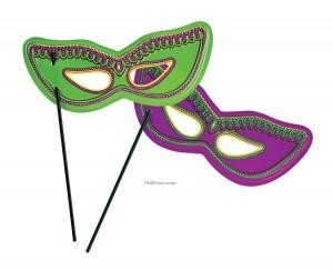 Máscaras para o Carnaval com palito