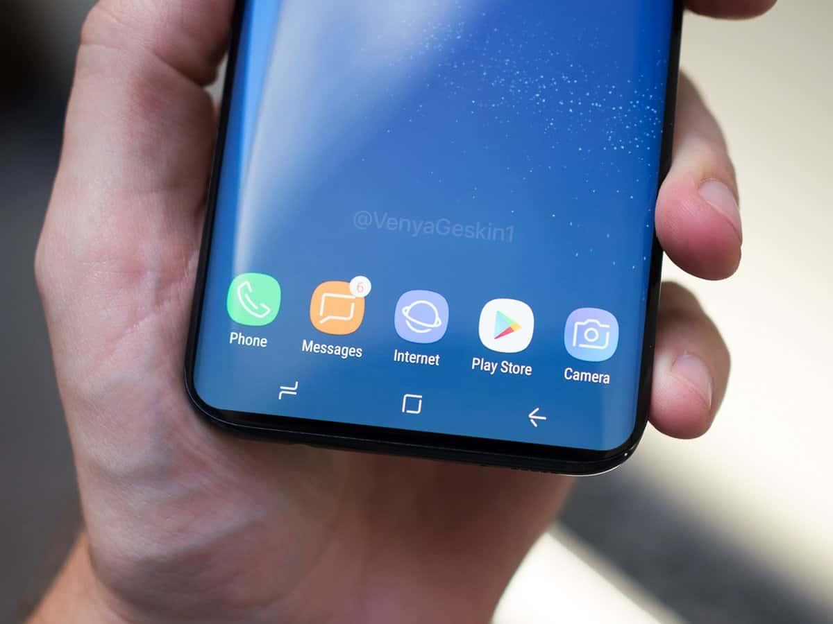 Samsung galaxy s9 reduced bottom bezels