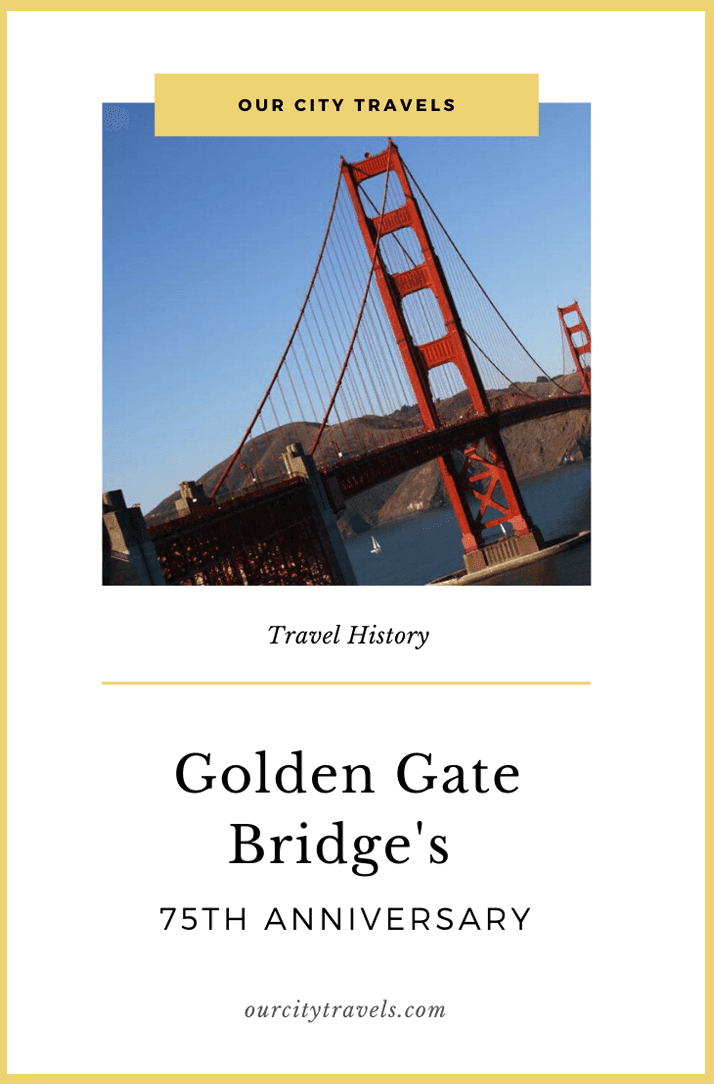 On May 27th 1937, the opening ceremony for the Golden Gate bridge in San Franciscotook place...that's 75 years ago. The historical bridge, the most photographed in the world,links the city of San Francisco, on the northern tip of the San Francisco Peninsula, to Marin County. It has become a major land mark of San Francisco, California, and even the United States.