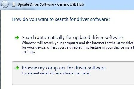 Update Generic USB Hub