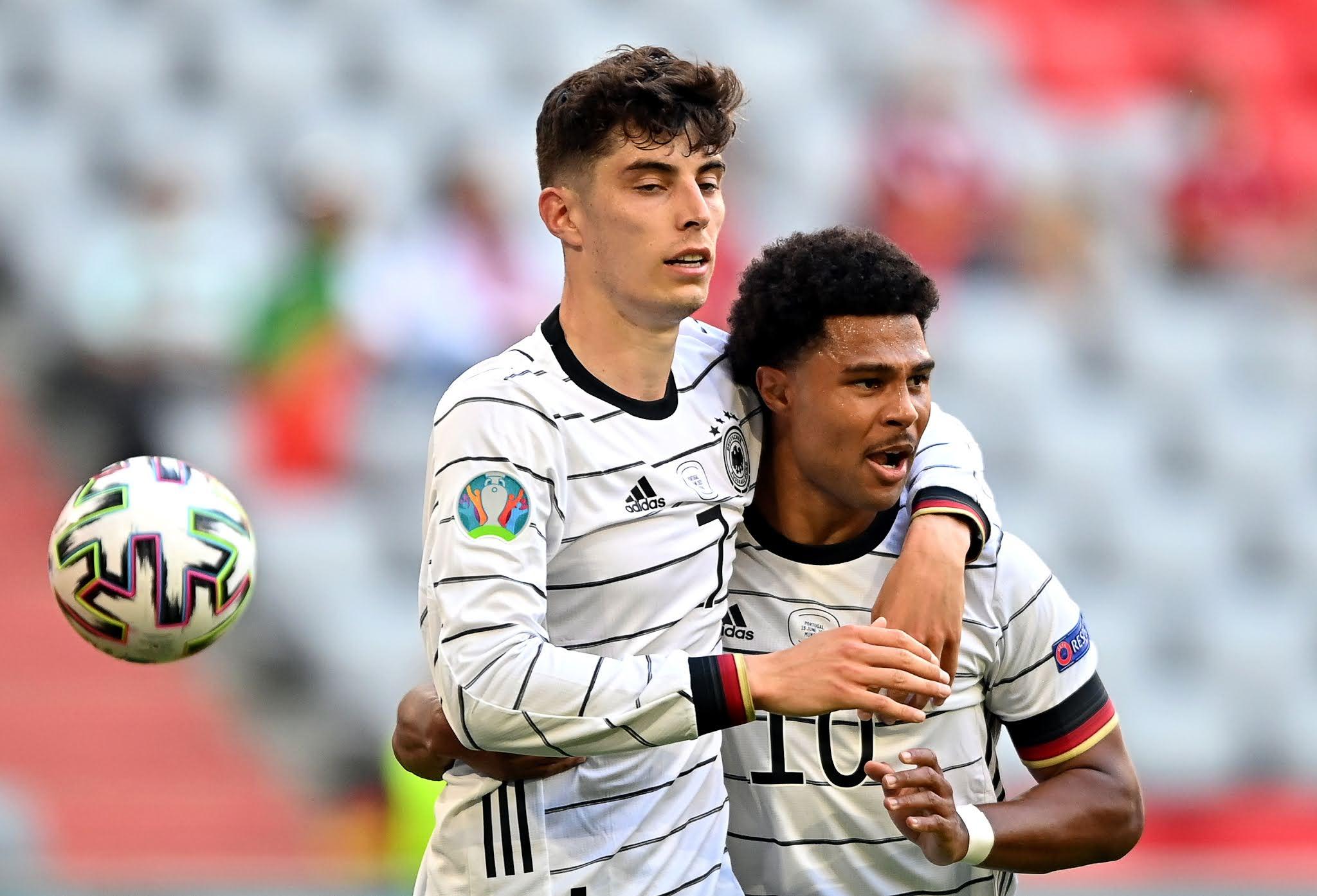 Germany forwards Kai Havertz and Serge Gnabry