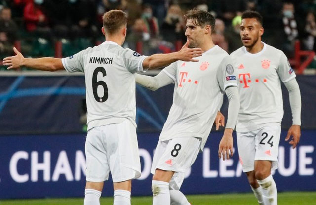 Gol UCL Bayern Munchen vs Lokomotiv Moscow
