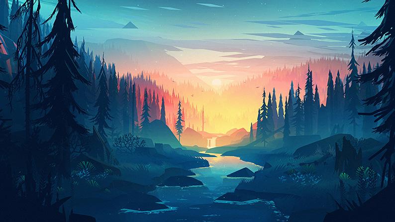 Recovery Mountain Minimalist 4k Hd Desktop Wallpaper For: Minimalist Landscape- Mountain And River 4k Wallpaper