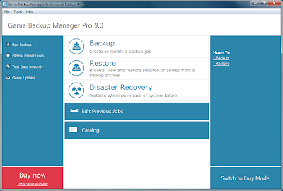 Genie Backup Manager Pro 9