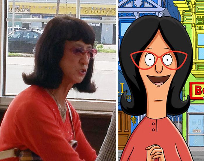 Lady Looks Like Linda Belcher From Bob's Burgers