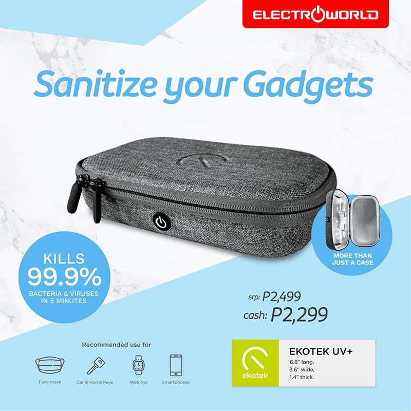 Sanitize your gadgets with Ekotek UV+