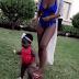 Davido's Babymama and Daughter Go Swimming (Photos)