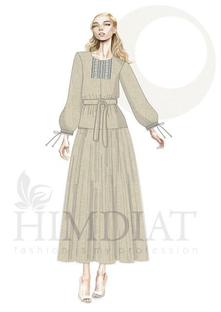Платье женское. Модель PL-388 А