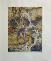 A scene from Rackham's The Tempest