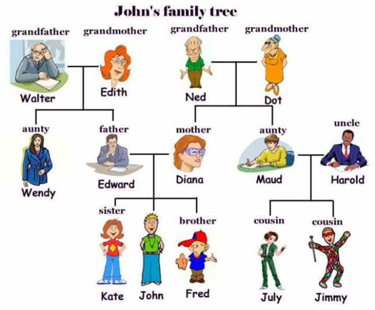 English Honori Garcia Different Types Of Family