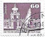 Selo Palácio Zwinger em Dresden, 1981