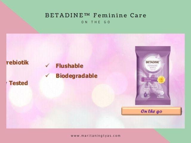 betadine flushable tissue