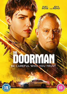 Ruby Rose and Jean Reno on a yellow background - DVD cover
