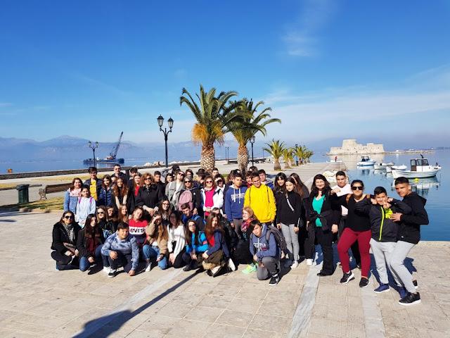 55 μαθητές από Ελλάδα και Ευρώπη ένωσαν τις δυνάμεις τους με το 1ο Γυμνάσιο Ναυπλίου για τον Καποδίστρια
