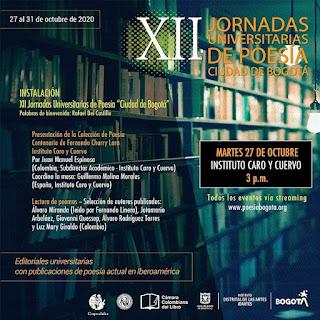 XII Jornadas Universitarias de Poesía Ciudad de Bogotá