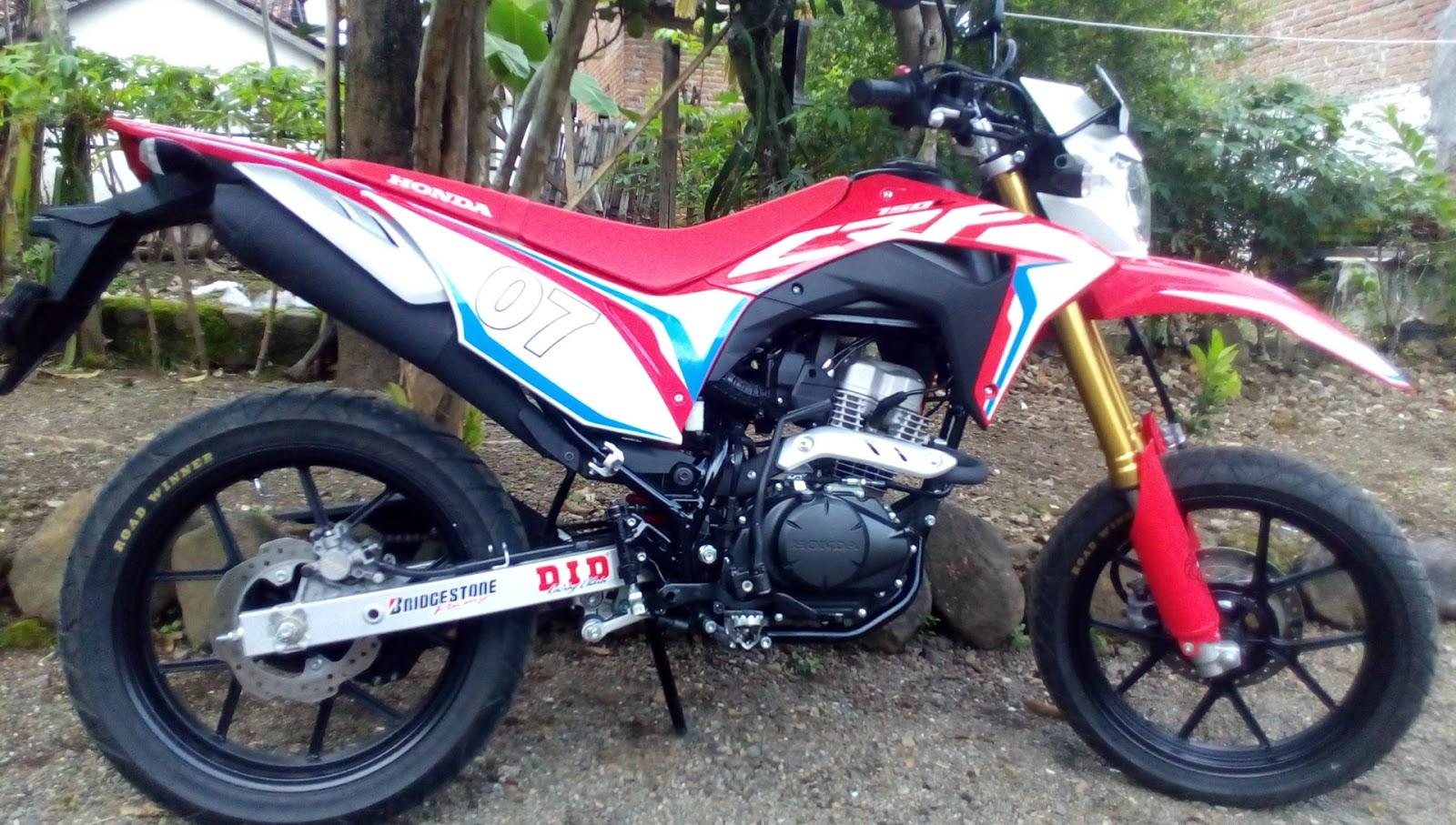 Supermoto Honda Crf Velg Racing Modifikasi Trail Crf Supermoto