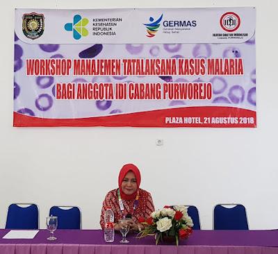 Workshop Manajemen Tatalaksana Malaria Bagi Anggota IDI Cabang Purworejo