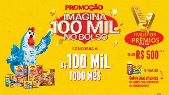 Promoção Imagina 100 mil no bolso Maggi