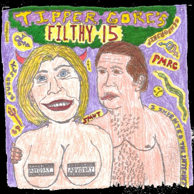 PMRC Filthy 15 album cover. PunkMetalRap.com